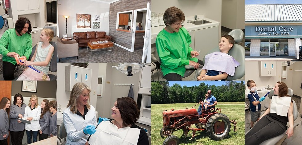 Multiple photos of the Holt Dental Team - your Fishers Indiana dentist