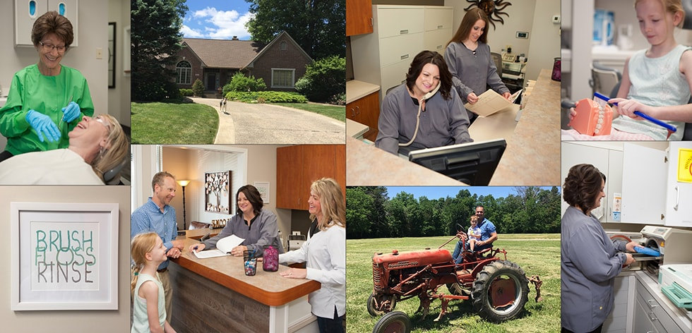 Collage of the Holt Dental team in Fishers, Indiana