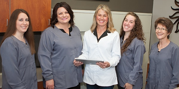 Fishers family dentist, Dr. Holt, and her dental team.